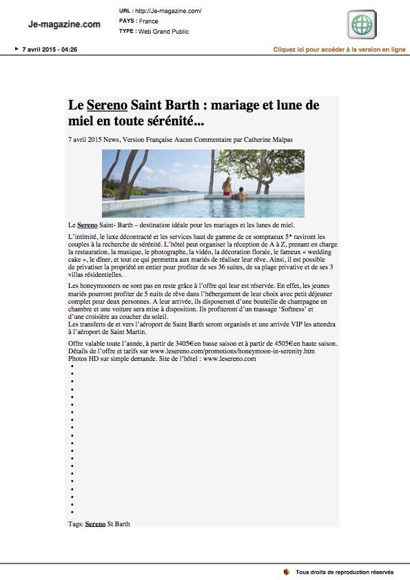 je-magazine.com 07.04.15 - Sereno